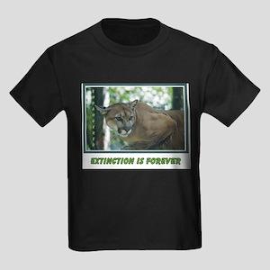 Endangered Florida Panther Kids Dark T-Shirt