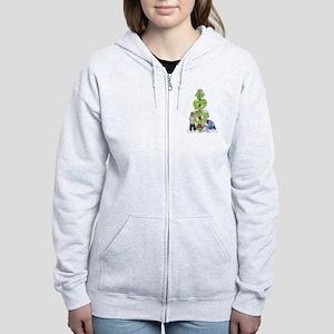 Holiday Love Tree Women's Zip Hoodie