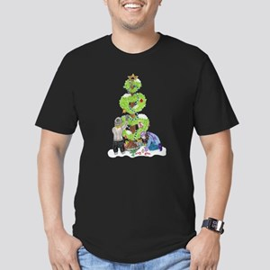 Holiday Love Tree Men's Fitted T-Shirt (dark)