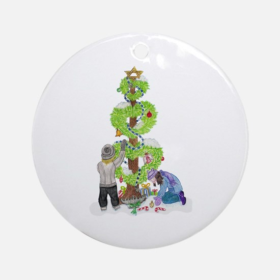 Holiday Love Tree Ornament (Round)