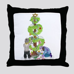 Holiday Love Tree Throw Pillow