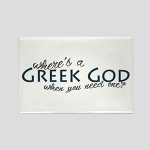 Where's a Greek God... Rectangle Magnet