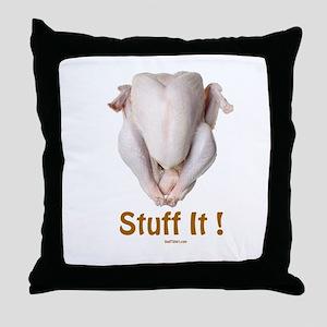 Stuff It Funny Thanksgiving Throw Pillow