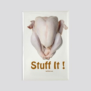 Stuff It Funny Thanksgiving Rectangle Magnet