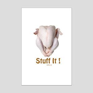 Stuff It Funny Thanksgiving Mini Poster Print