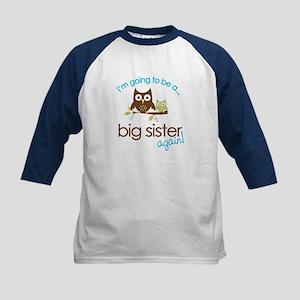 i'm going to be a big sister owl shirt Kids Baseba