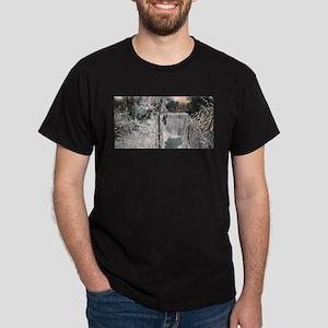 1906 Winter Minnehaha Falls Dark T-Shirt