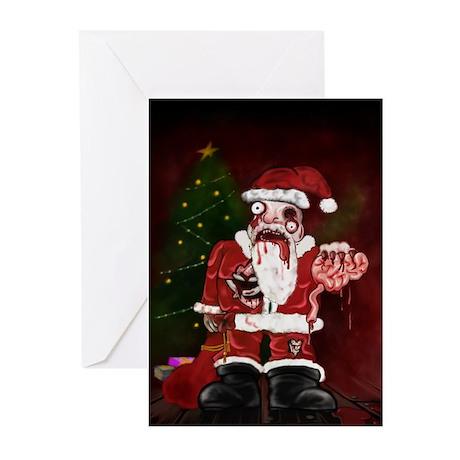 Zombie Santa Greeting Cards (Pk of 20)