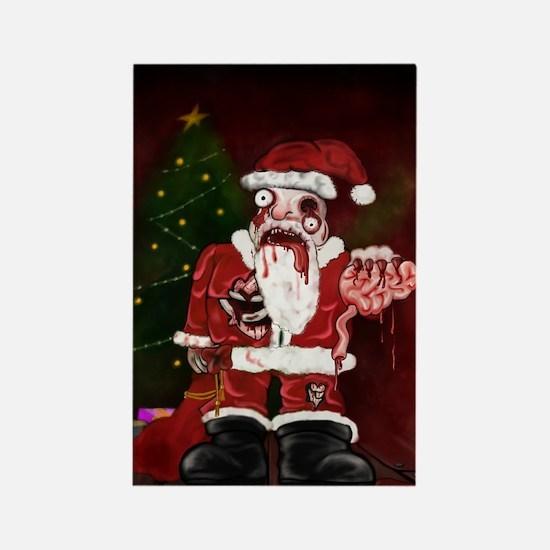 Zombie Santa Rectangle Magnet