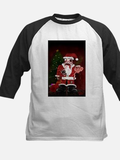 Zombie Santa Kids Baseball Jersey