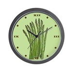 Green Asparagus Wall Clock