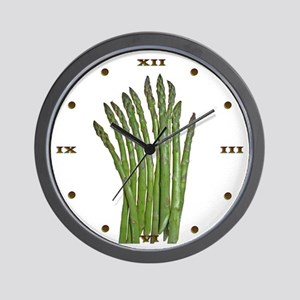 White Asparagus Wall Clock