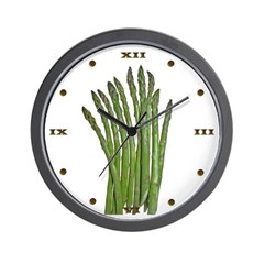White Asparagus Wall Clock