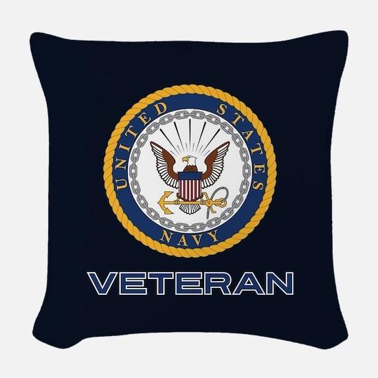 U.S. Veteran Woven Throw Pillow