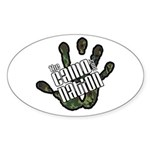 The Camo Nation Oval Sticker