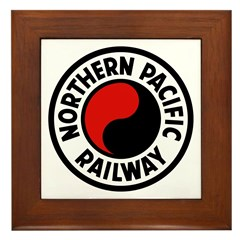 Northern Pacific Framed Tile