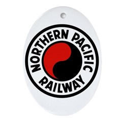 Northern Pacific Oval Ornament