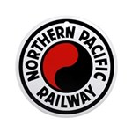 Northern Pacific Round Ornament
