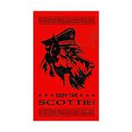 Scottish Terrier- Obey the Scottie! Sticker