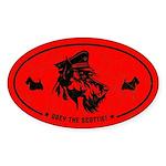Obey the Scottie! Scottish Terrier Oval Sticker