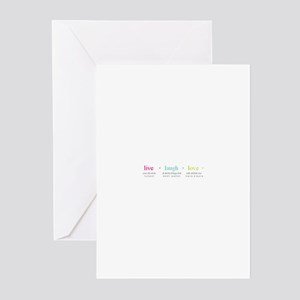 LIVE,LAUGH,LOVE Greeting Cards (Pk of 20)
