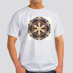 Redtail Hawk Mandala Ash Grey T-Shirt