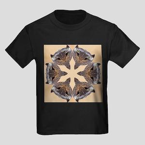 Redtail Hawk Mandala Kids Dark T-Shirt