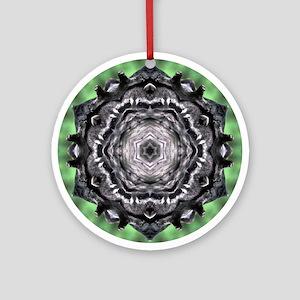Raccoon Mandala Ornament (Round)