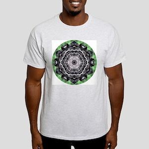 Raccoon Mandala Ash Grey T-Shirt