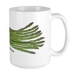 Asparagus on White Large Mug