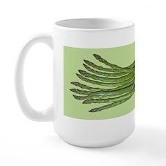 Asparagus on Green Large Mug