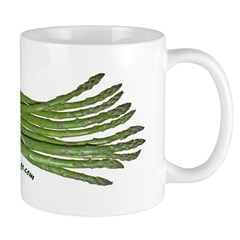 Asparagus on White Mug