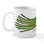 Asparagus on White Mug