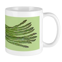 Asparagus on Green Mug