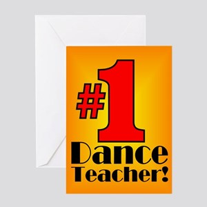 Dance Teacher Valentine Greeting Card