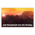A10 Thunderbolt over the Rockies Sticker (Rectangu