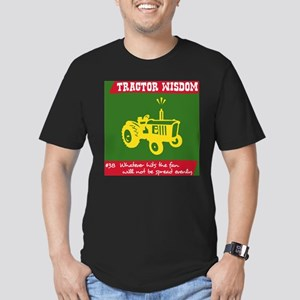 Tractor Wisdom #38 Men's Fitted T-Shirt (dark)