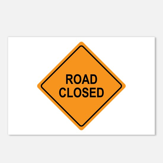 Road Closed Sign Postcards (Package of 8)
