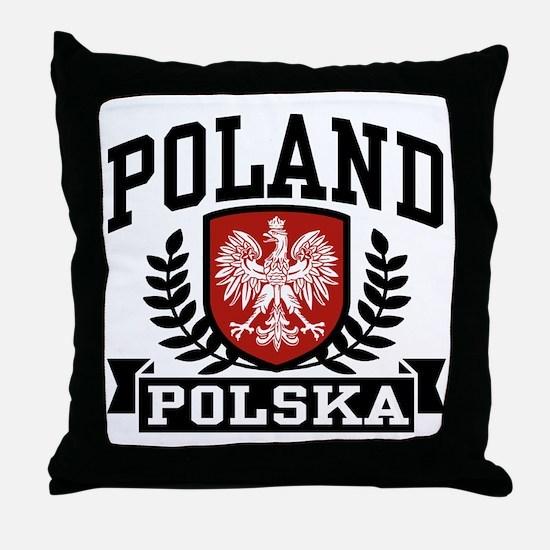 Poland Polska Throw Pillow