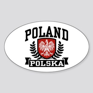 Poland Polska Oval Sticker