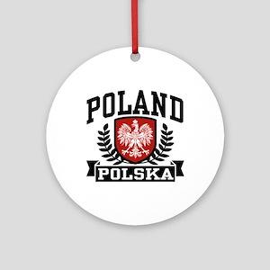 Poland Polska Ornament (Round)