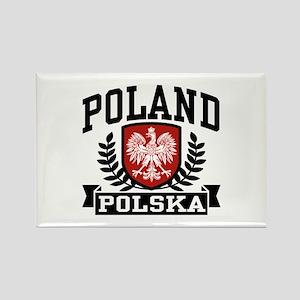 Poland Polska Rectangle Magnet