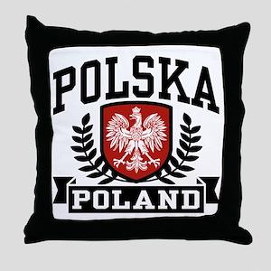 Polska Poland Throw Pillow