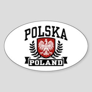 Polska Poland Oval Sticker