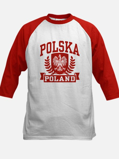 Polska Poland Kids Baseball Jersey