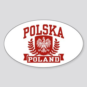Polska Poland Oval Sticker