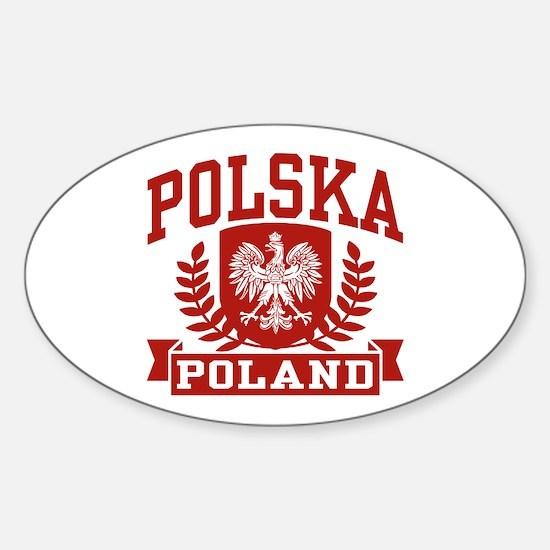 Polska Poland Oval Decal