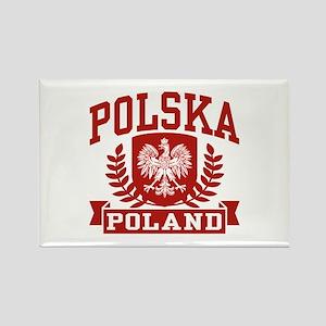 Polska Poland Rectangle Magnet