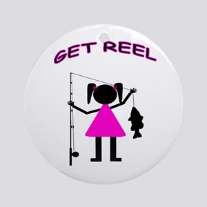 GET REEL GIRL - Ornament (Round)