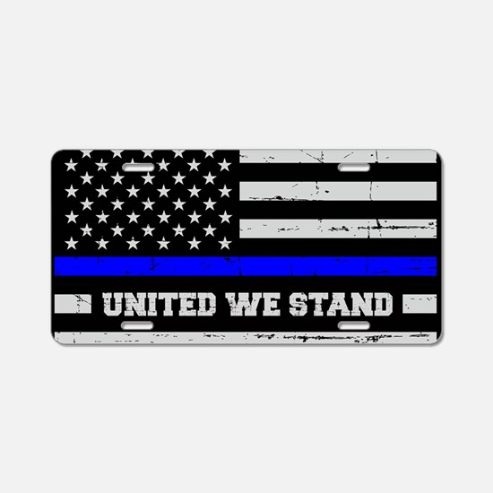 Thin Blue Line - Blue Live Aluminum License Plate